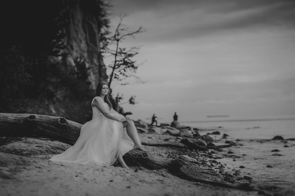 plener po ślubie nad morzem