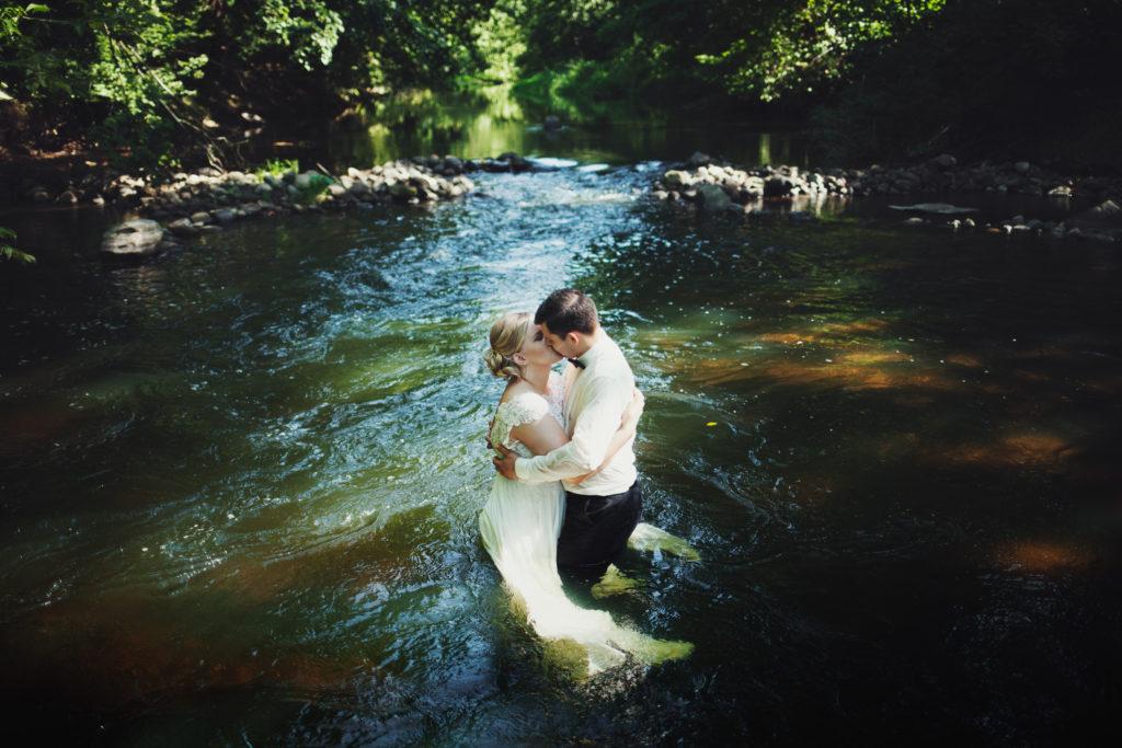 klimatyczny plener ślubny