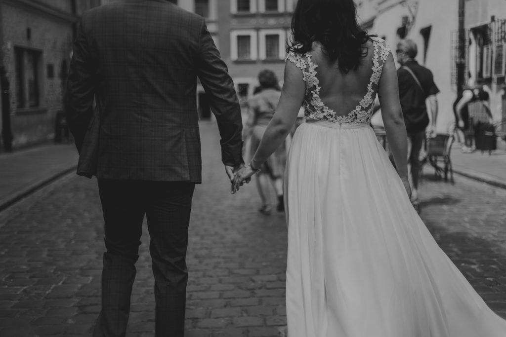 zdjęcia ślubne na starówce