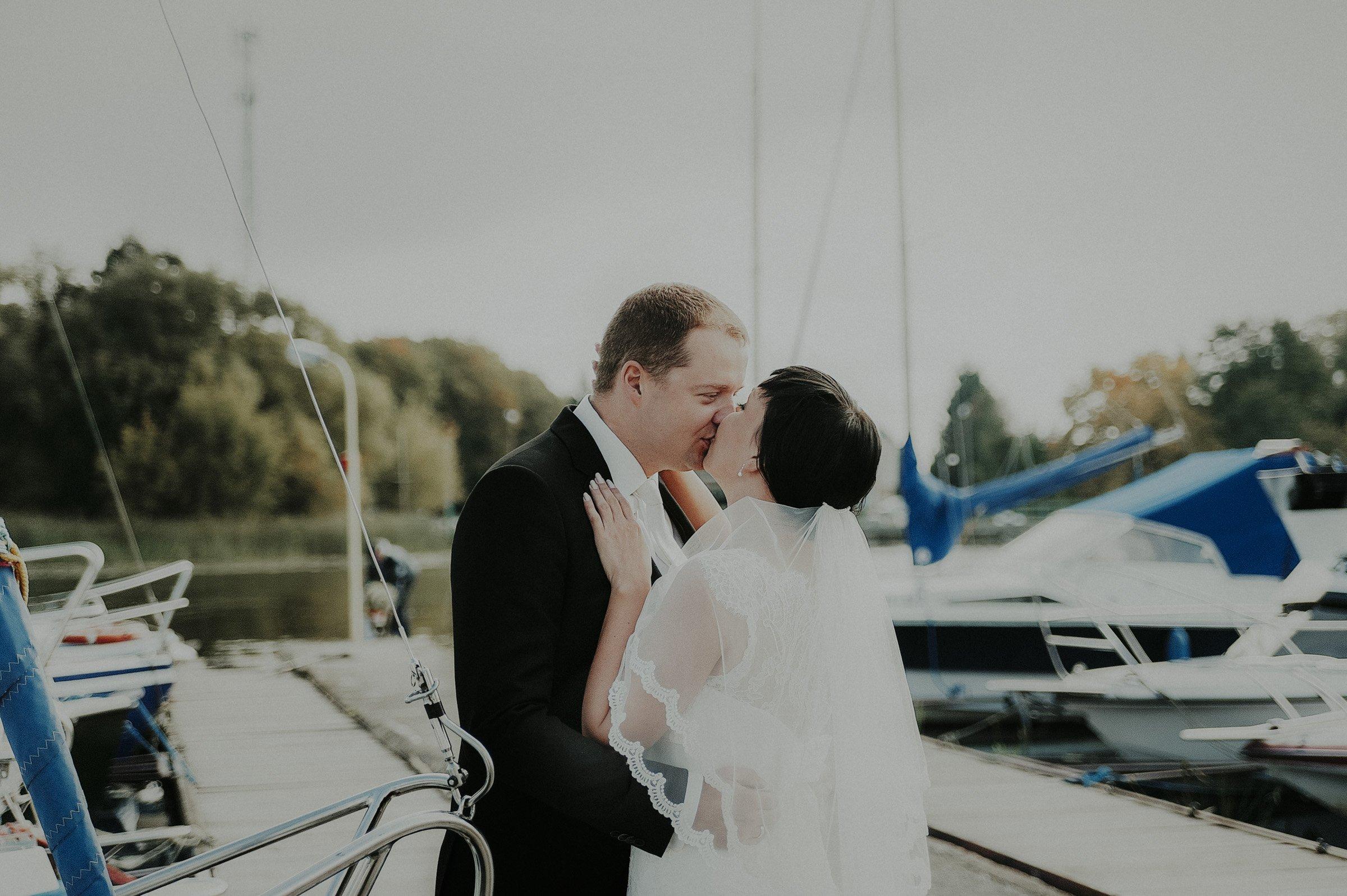 czułe kadry ślubne