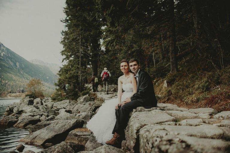 zdjęcia ślubne nad morskim okiem