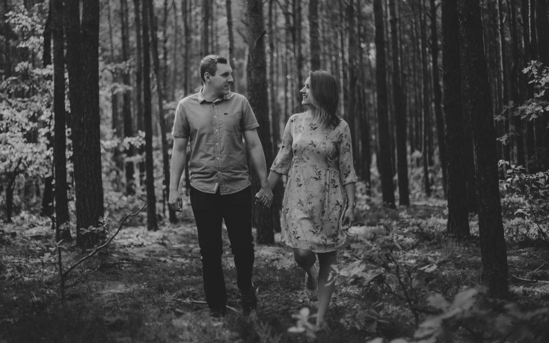 Romantyczna sesja przed ślubem