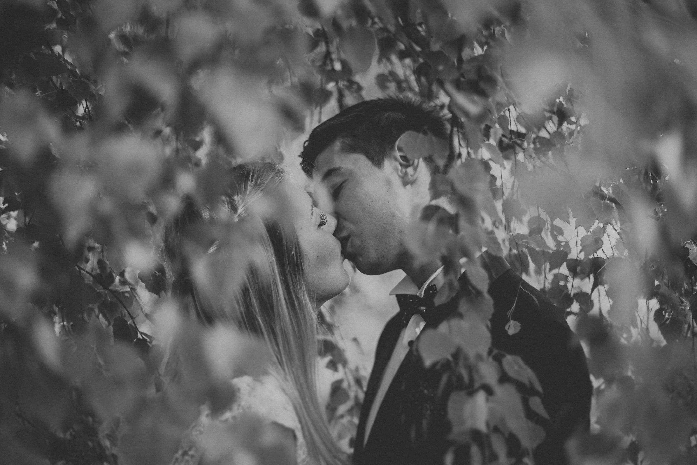 zakochani nowożeńcy