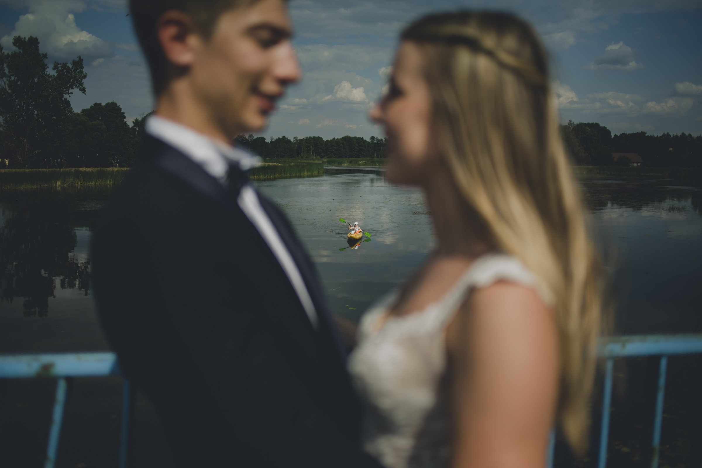 kajaki sesja ślubna