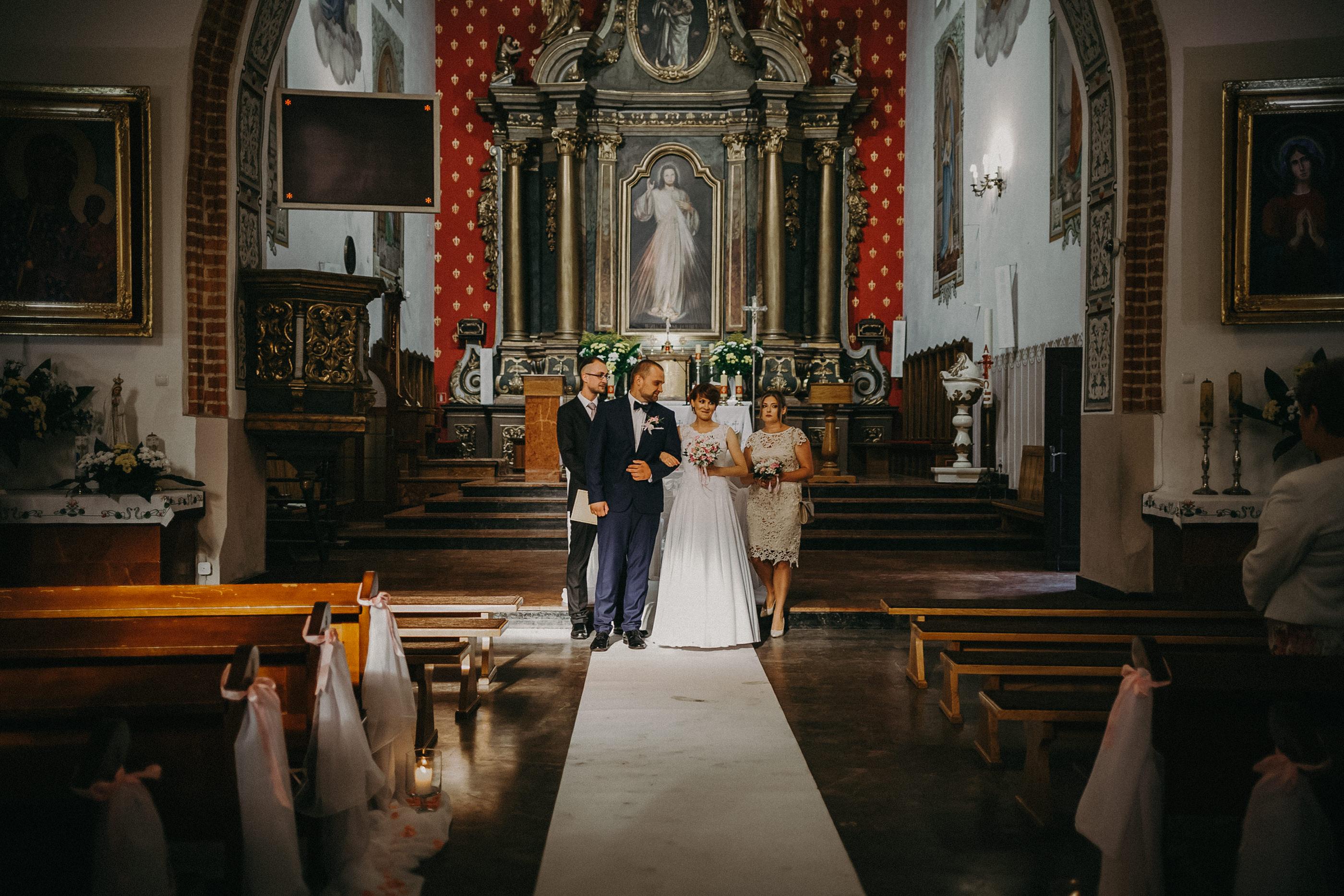 zakończenie ceremonii ślubnej