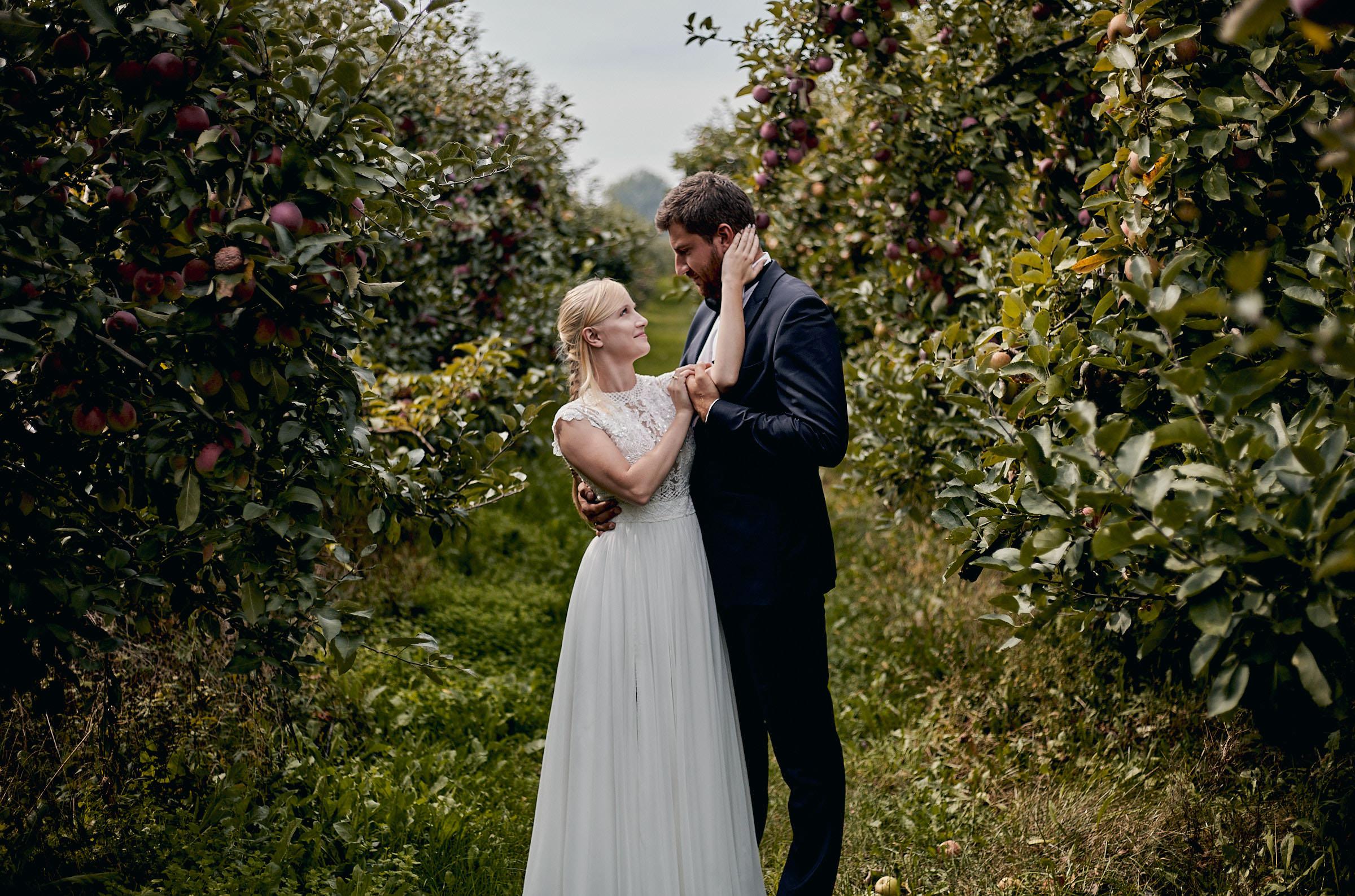 sesja ślubna w sadzie otwock
