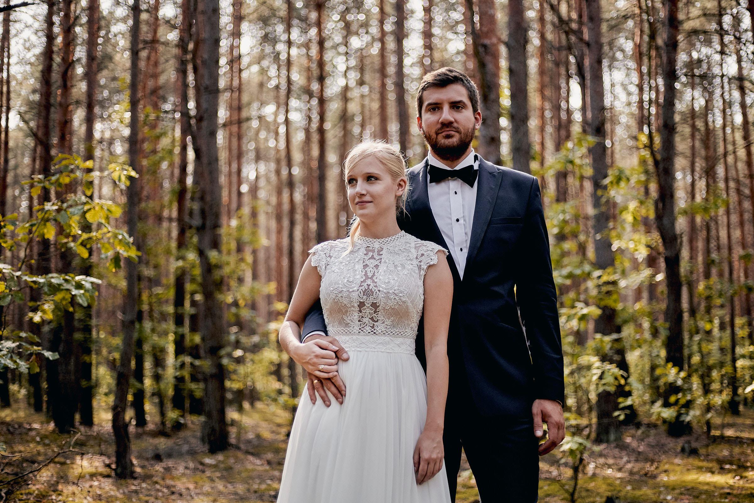 sesja ślubna w lesie otwock