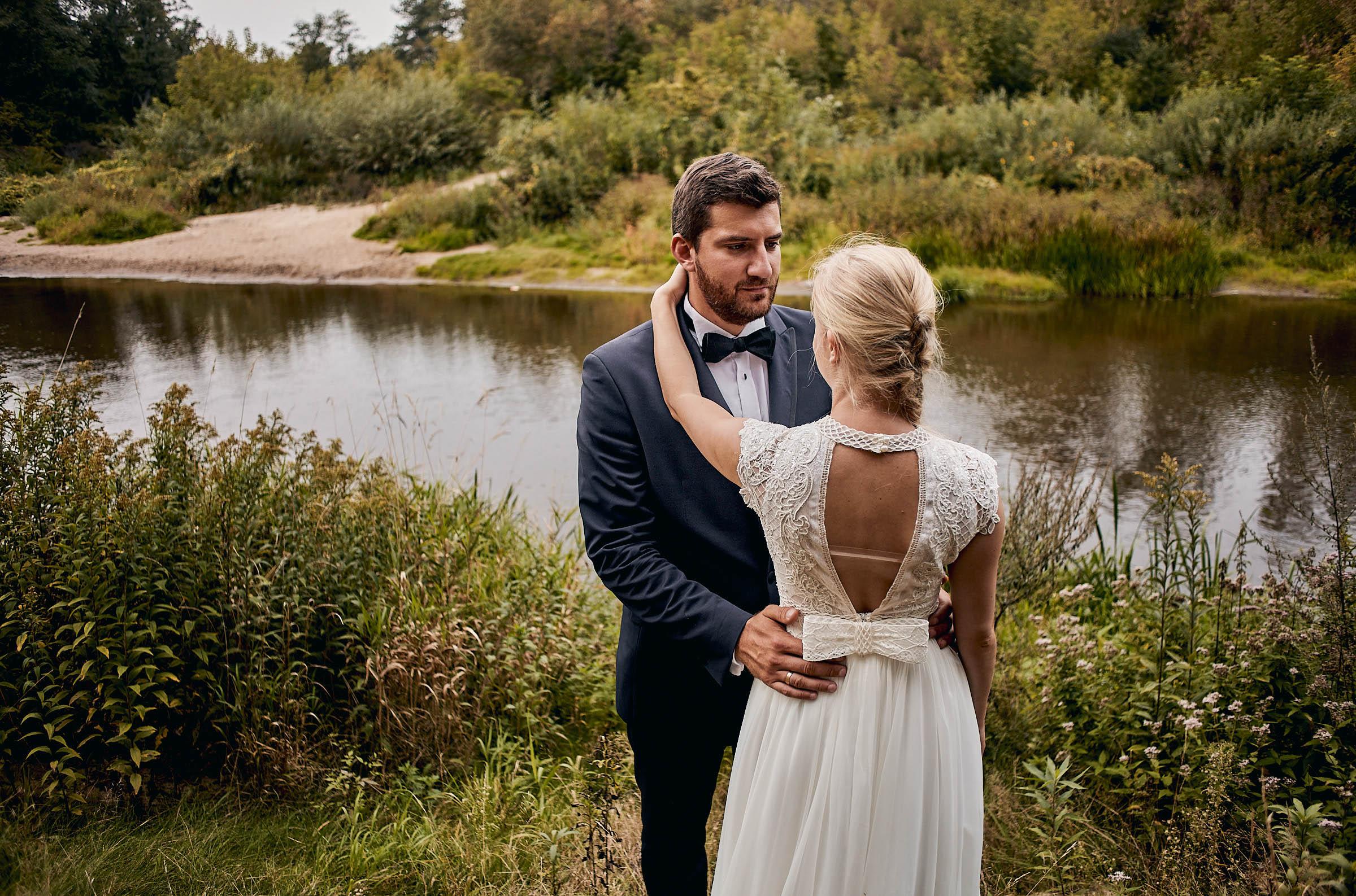 sesja ślubna nad rzeką otwock