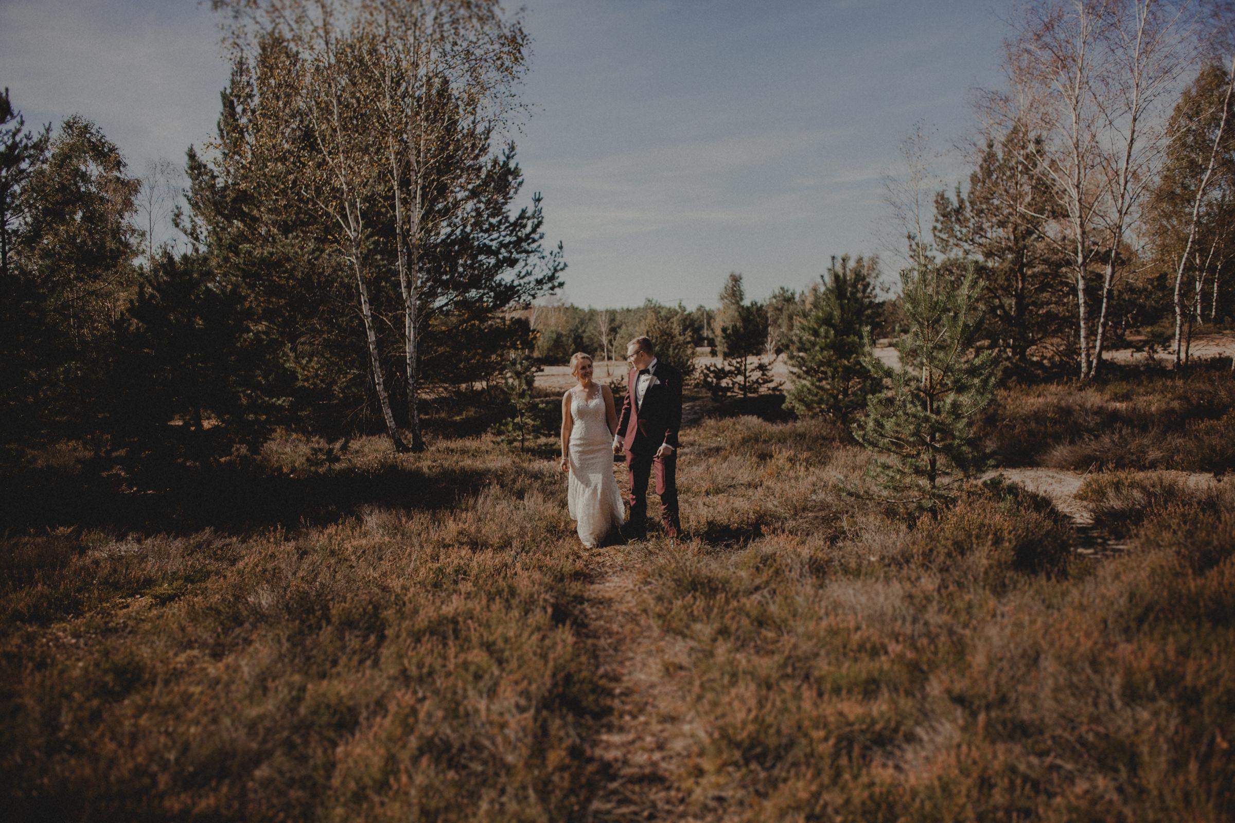 łąka na sesje ślubna