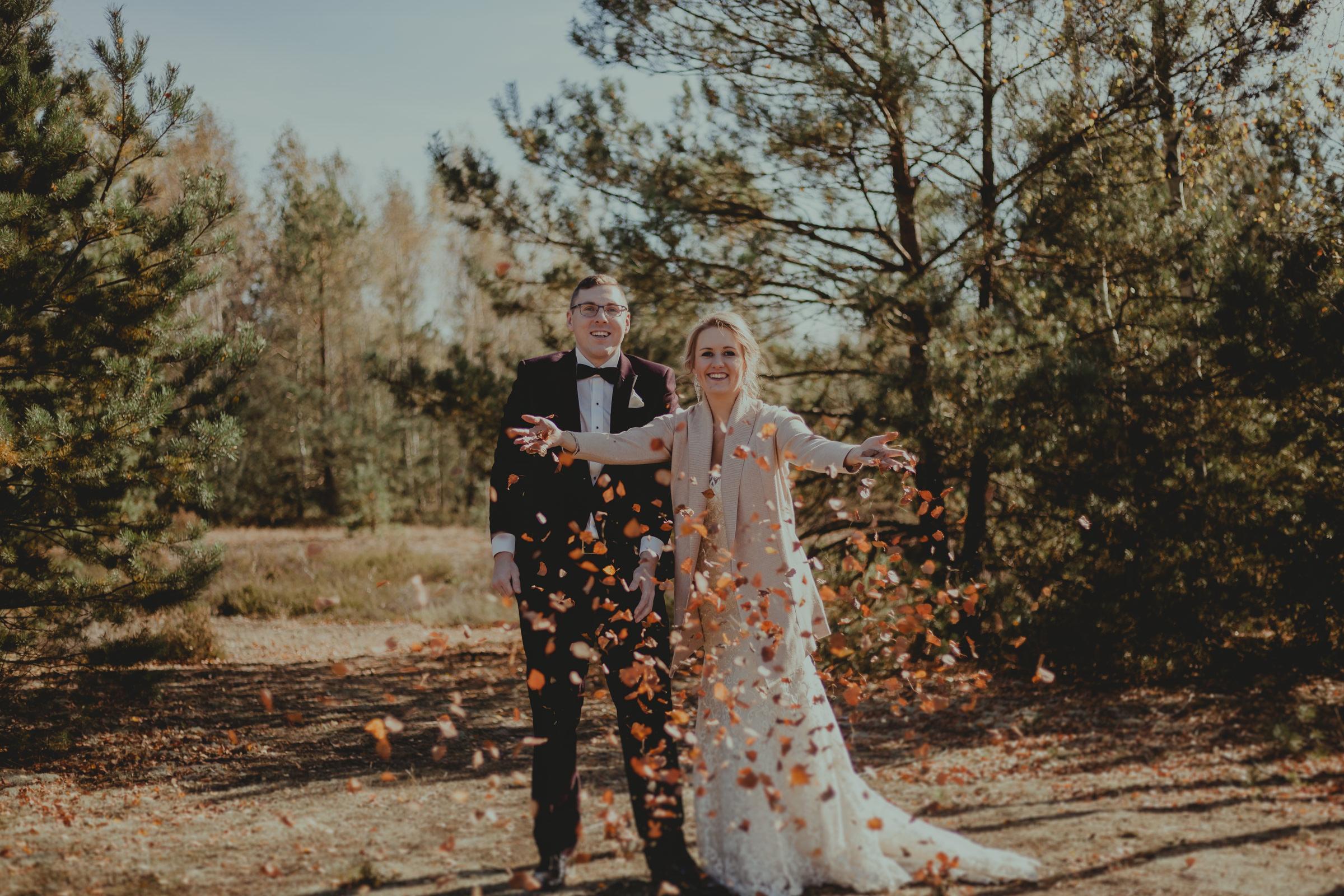 Justyna&Mateusz - Sesja ślubna na wrzosowisku Mostówka