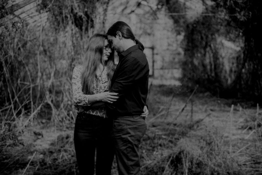 romantyczna sesja w szklarni