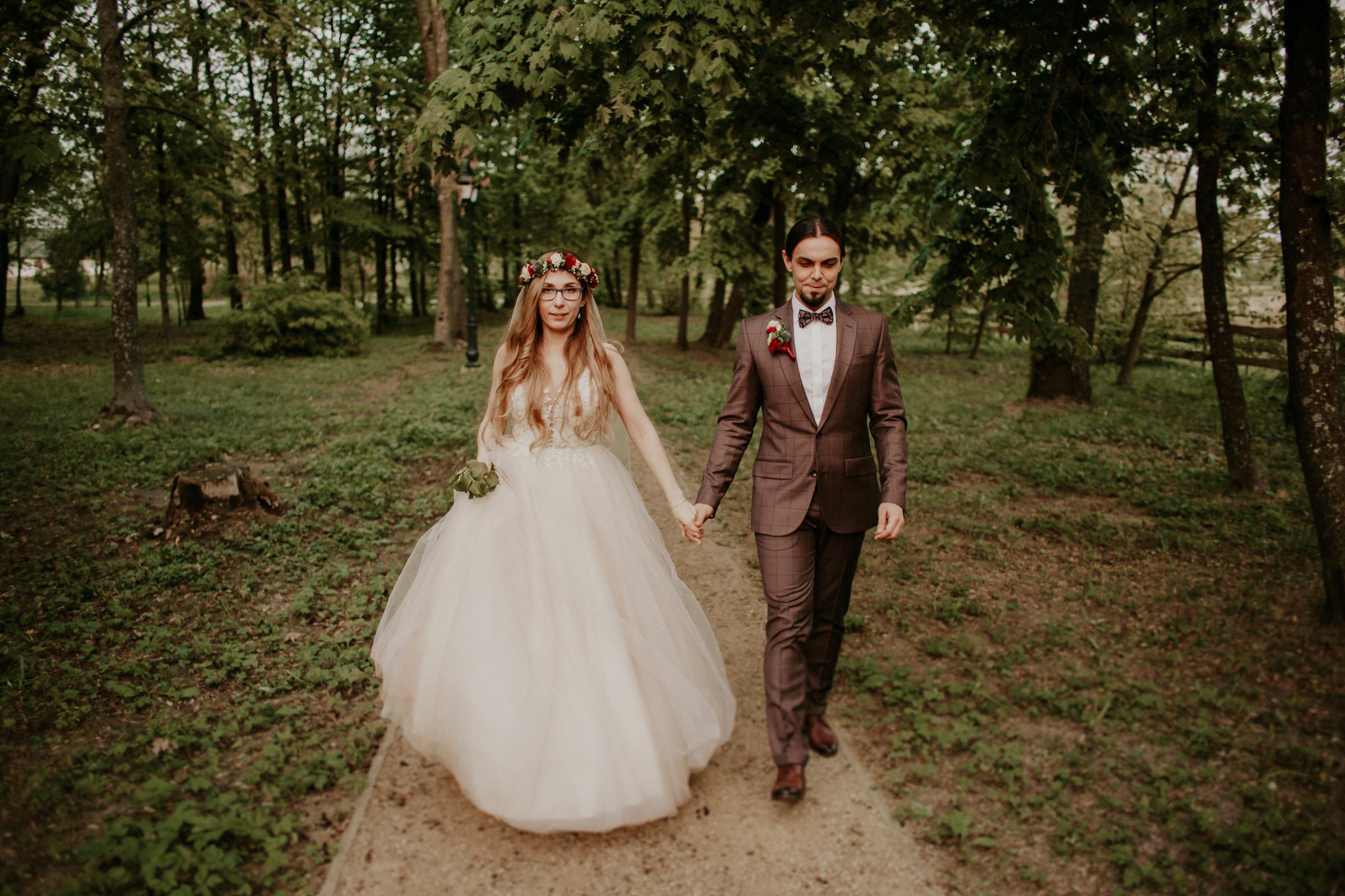 Sesja w dniu ślubu - Dwór Mościbrody