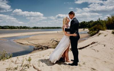 Sesja ślubna na plaży – Aleksandra i Konrad