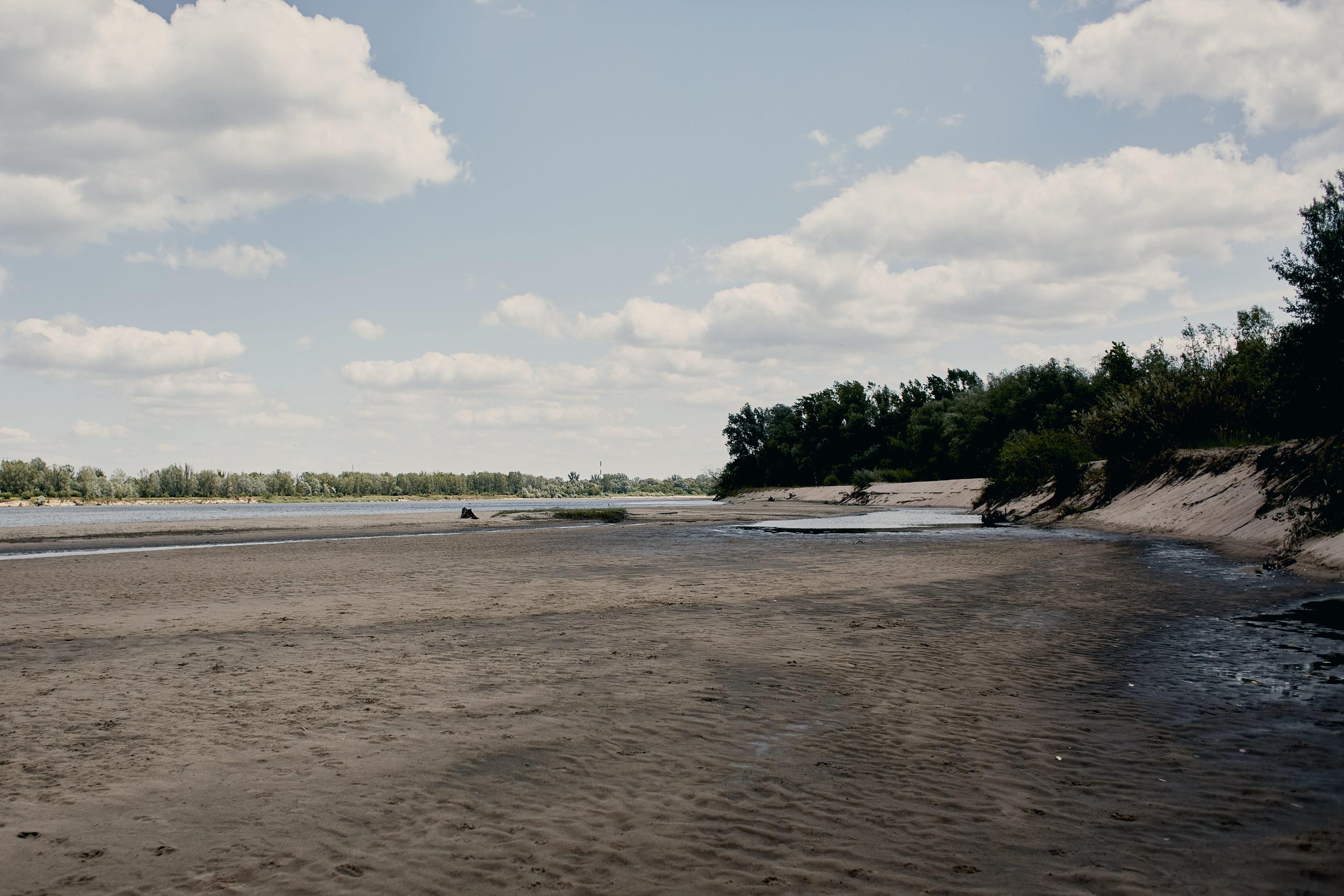 szeroka plaża nad wisłą