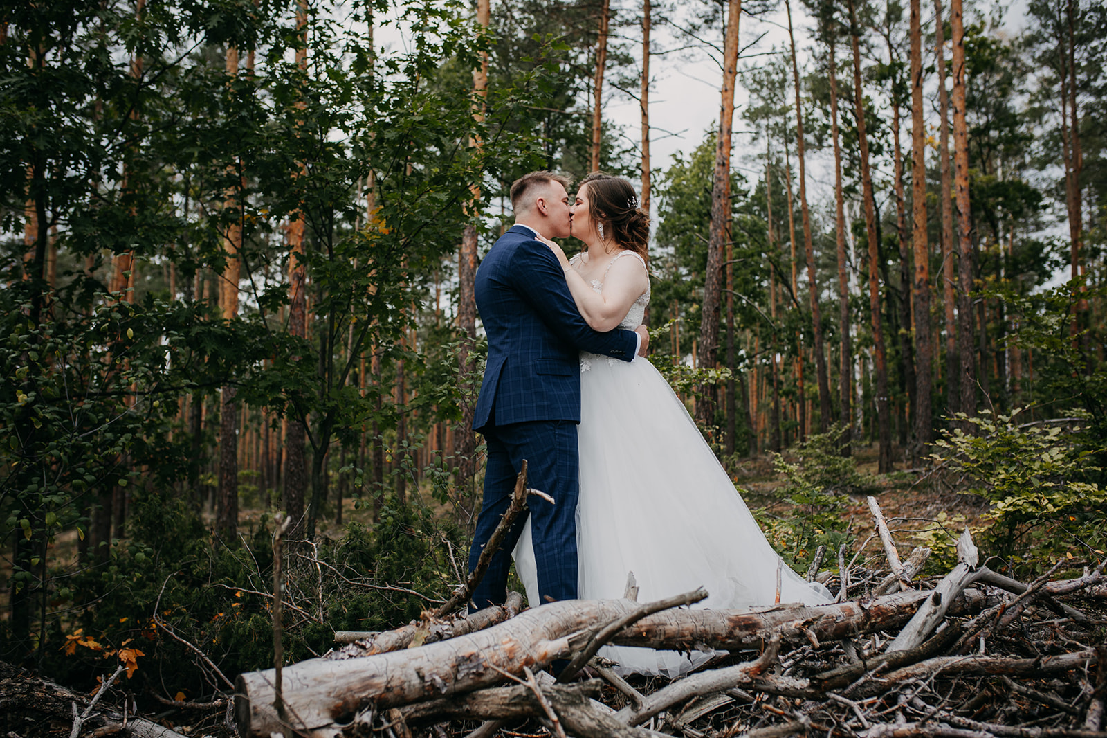 sesja ślubna legionowo las