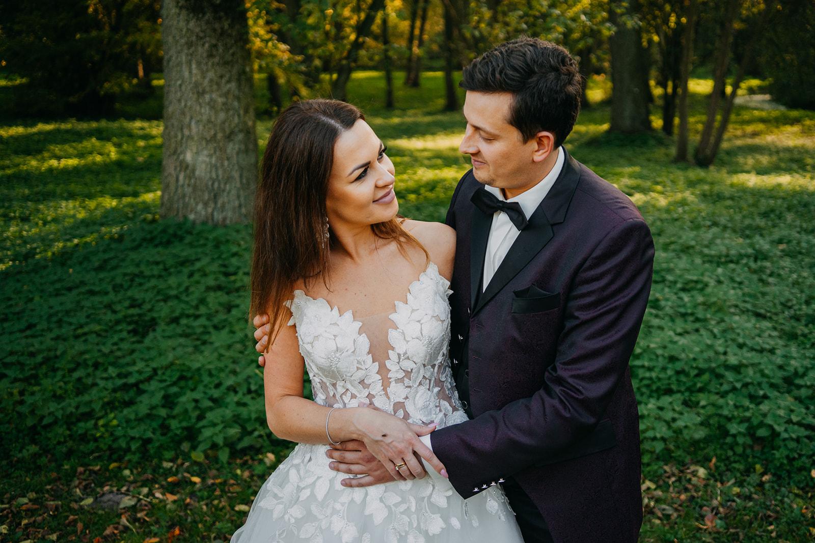 sesja ślubna w parku nieborów