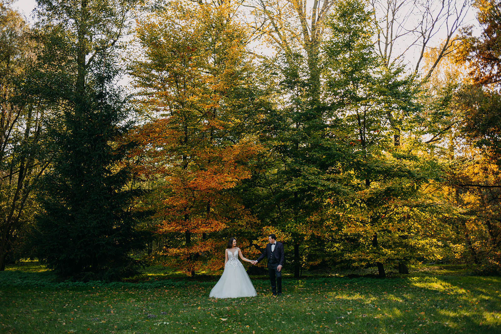 kolorowa sesja po ślubie