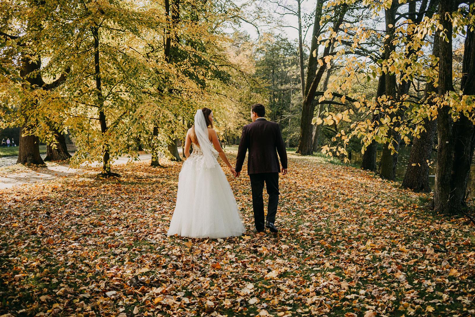 jesienna sesja po ślubie