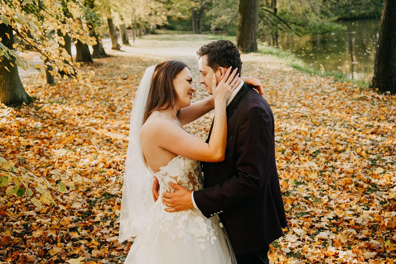 romantyczny plener ślubny nieborów