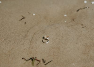 obrączi na plaży