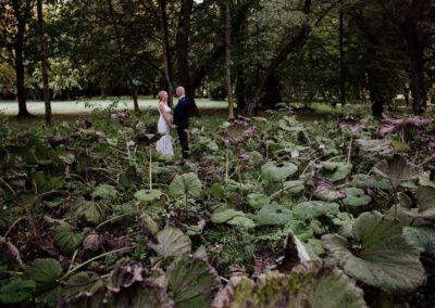 sesja ślubna w roślinach