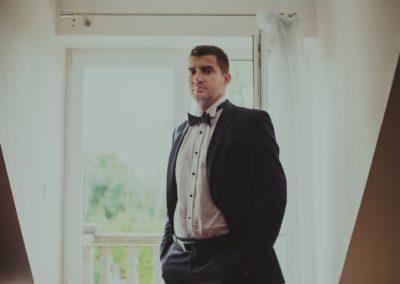 pan młody przed ślubem