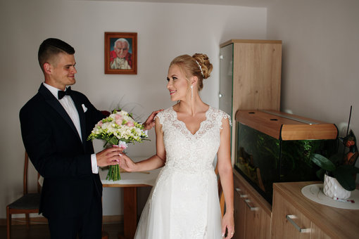 first look fotografia ślubna