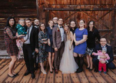 sesja ślubna zdjęcie rodzinne