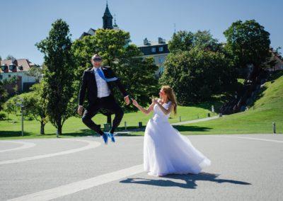 sesja ślubna fontanny
