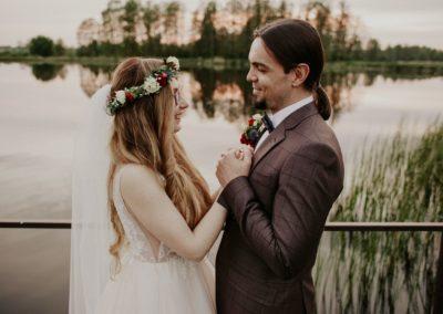 sesja ślubna na pomoście