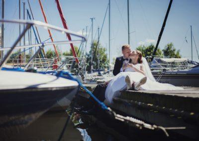 sesja ślubna łódki