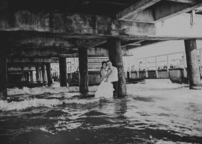 sesja ślubna molo