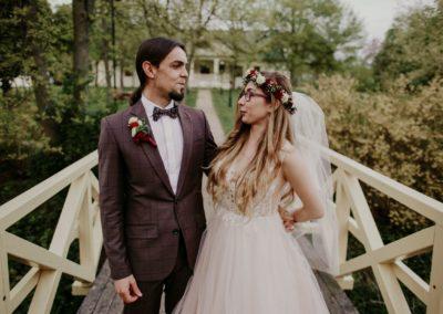 sesja ślubna na mostku