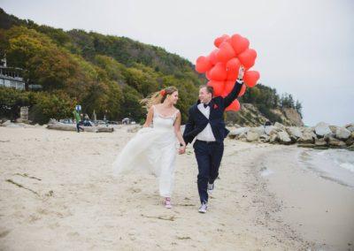 sesja ślubna na plaży gdynia