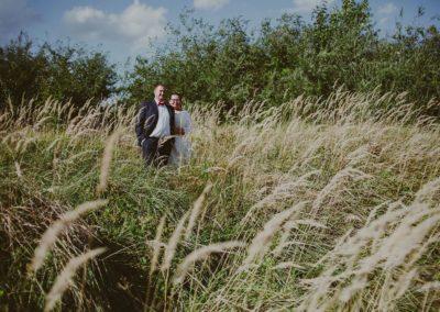 sesja ślubna pole