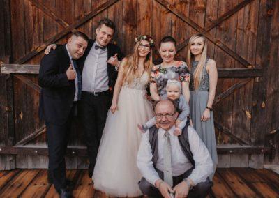 sesja ślubna z rodziną