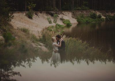 sesja ślubna aleksandra i szczepan w lesie