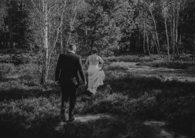 sesja ślubna justyna i mateusz w lesie