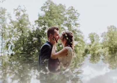 sesja ślubna w parku młóchów
