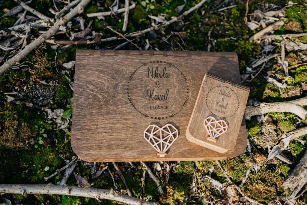 drewniane pudełka na zdjęcia