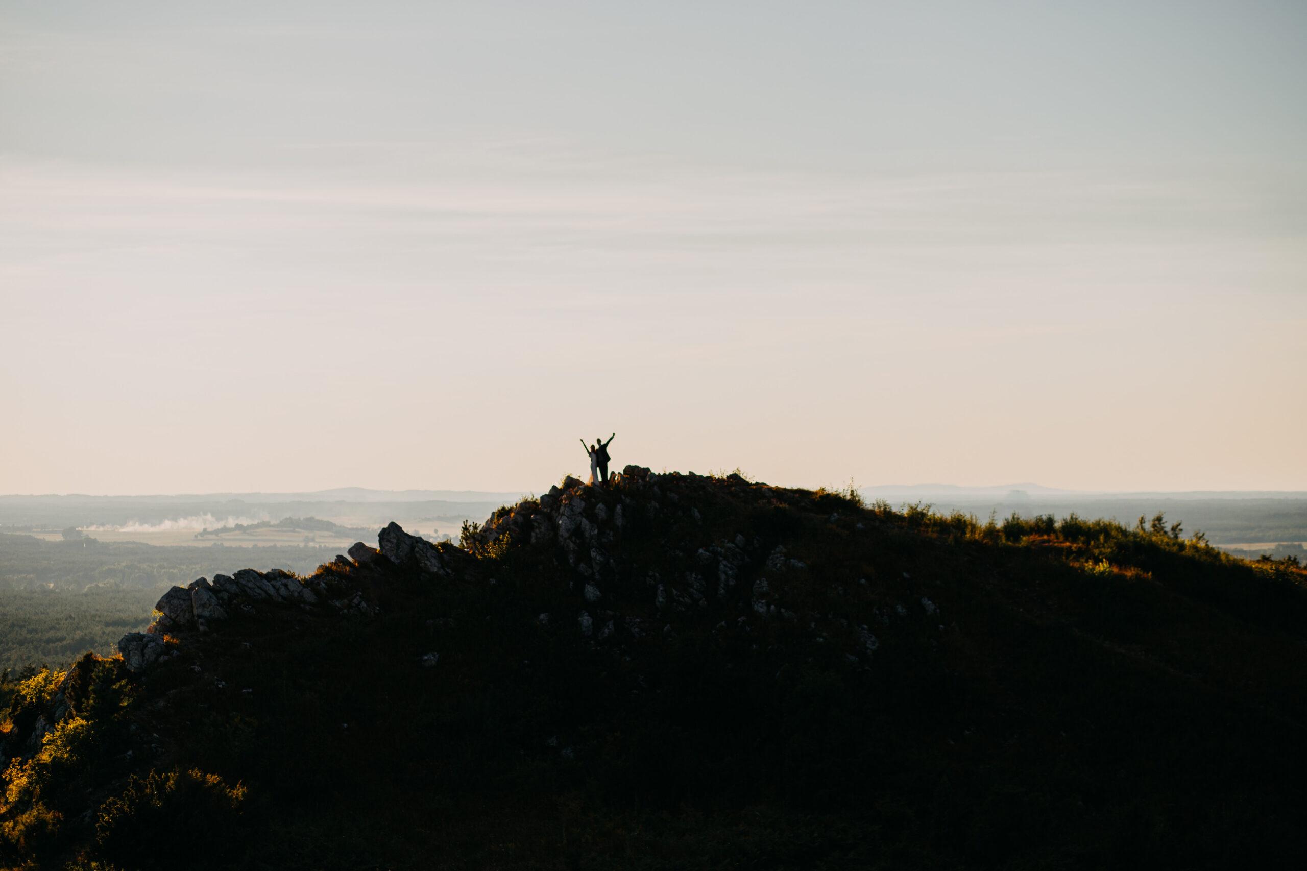 Sesja Ślubna o zachodzie Góra Miedzianka