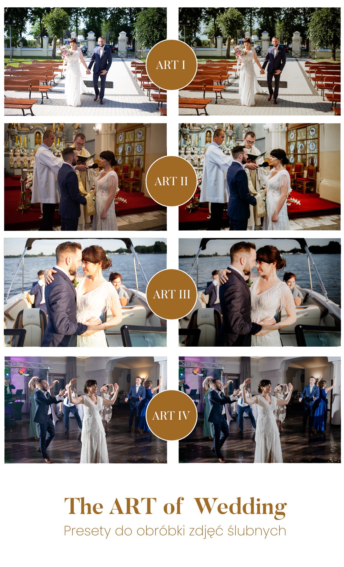 preset do zdjęć ślubnych